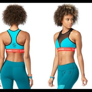 Strong by Zumba No Big Teal Bra